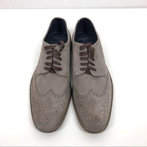 New Joseph Abboud Collection suede wingtips